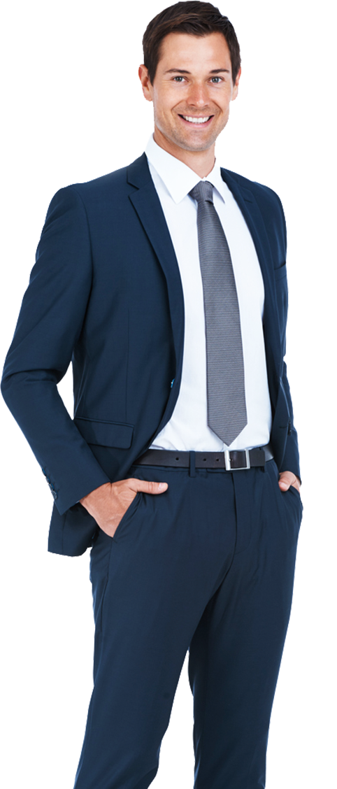 male in suit