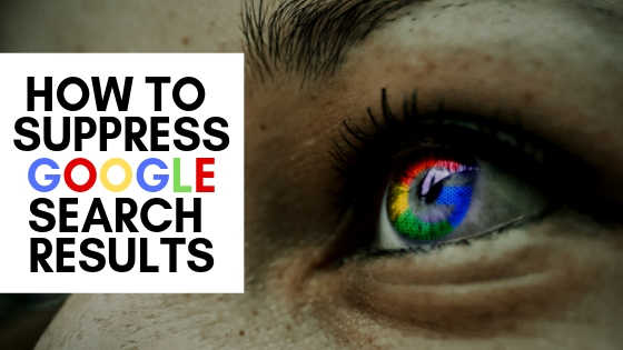 looking for how to suppress Google search results