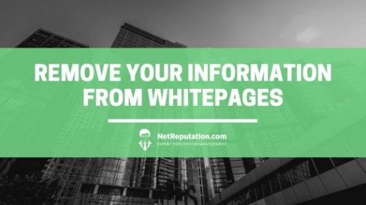 How to remove your information from whitepages