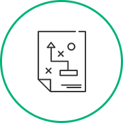 process step icon with green circle